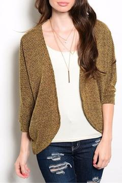 Shoptiques Product: Mustard White Cardigan