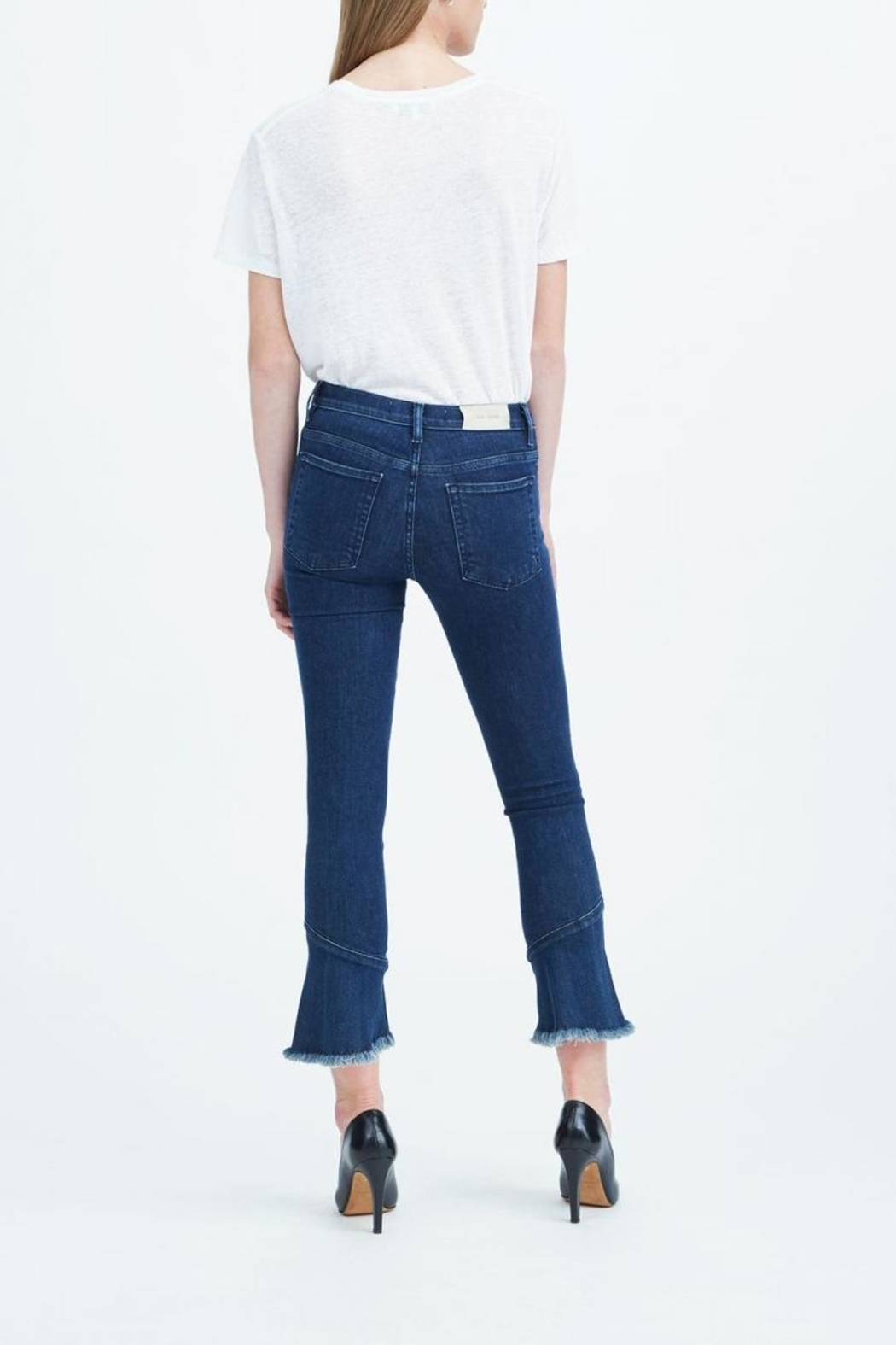 IRO Cropped Flare Jeans - Front Full Image