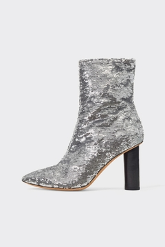 IRO Silver Sequin Boots - Product List Image