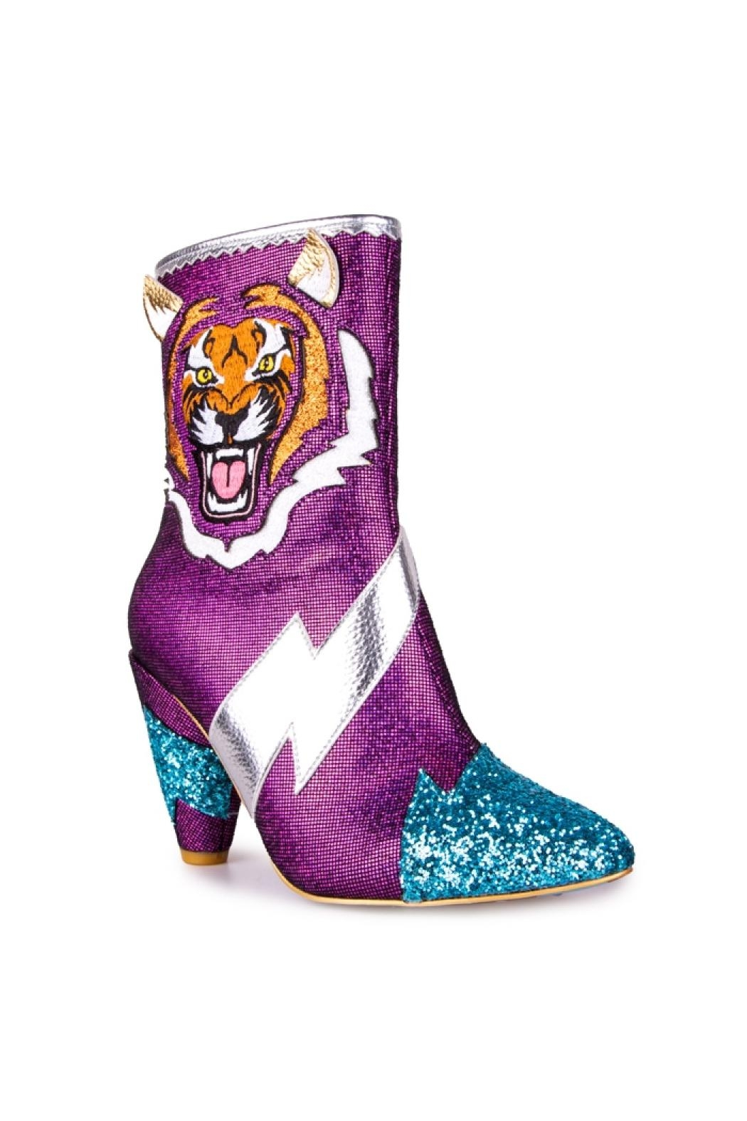 Irregular Choice Easy Tiger Boots - Front Full Image
