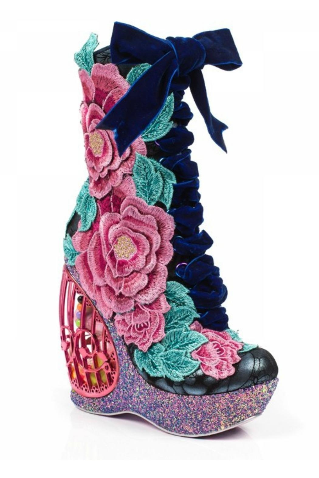 Irregular Choice Maya Floral Boot - Front Full Image