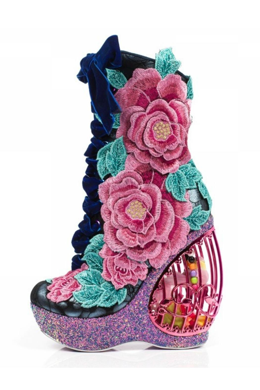 Irregular Choice Maya Floral Boot - Main Image