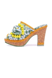 Irregular Choice Pom Pom Mules - Front cropped