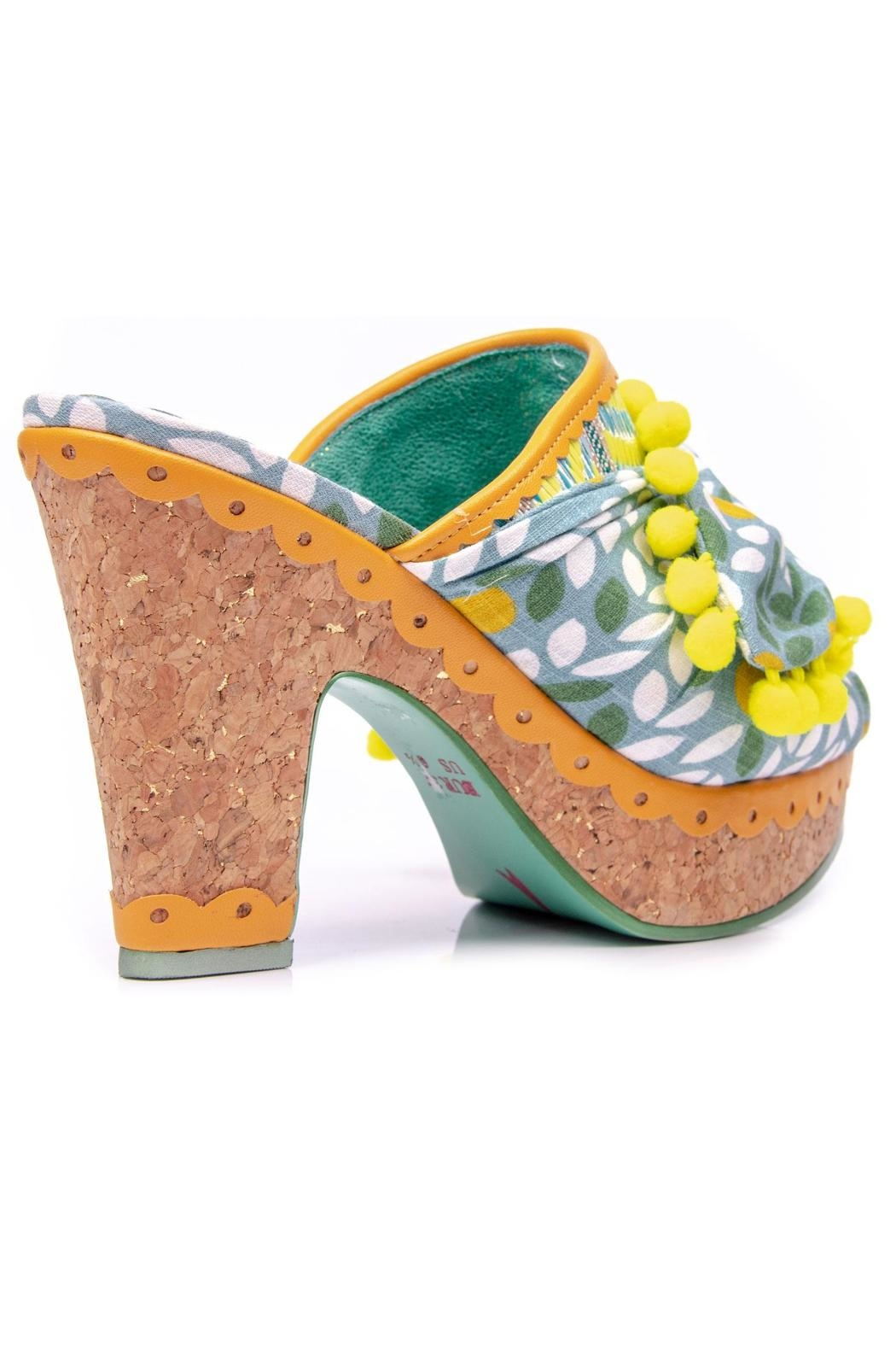 Irregular Choice Pom Pom Mules - Front Full Image