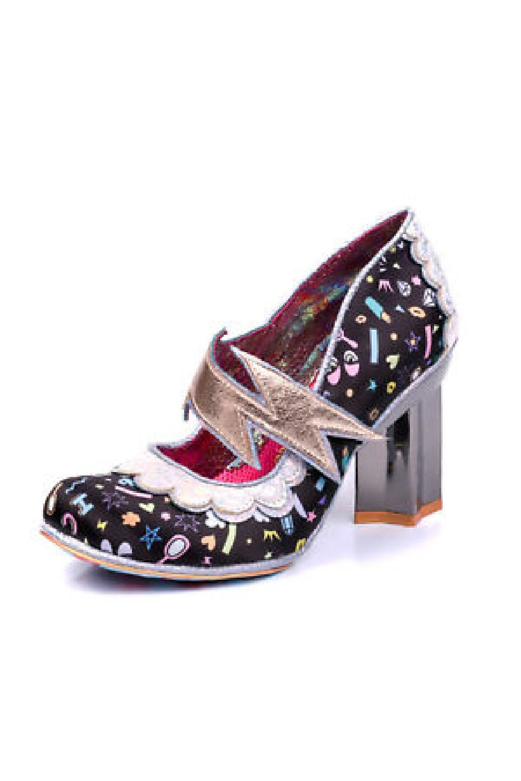 Irregular Choice Rainbow Thunder Heels - Front Cropped Image