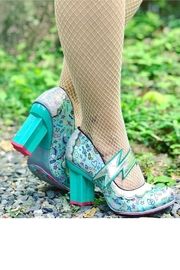 Irregular Choice Rainbow Thunder Heels - Front cropped
