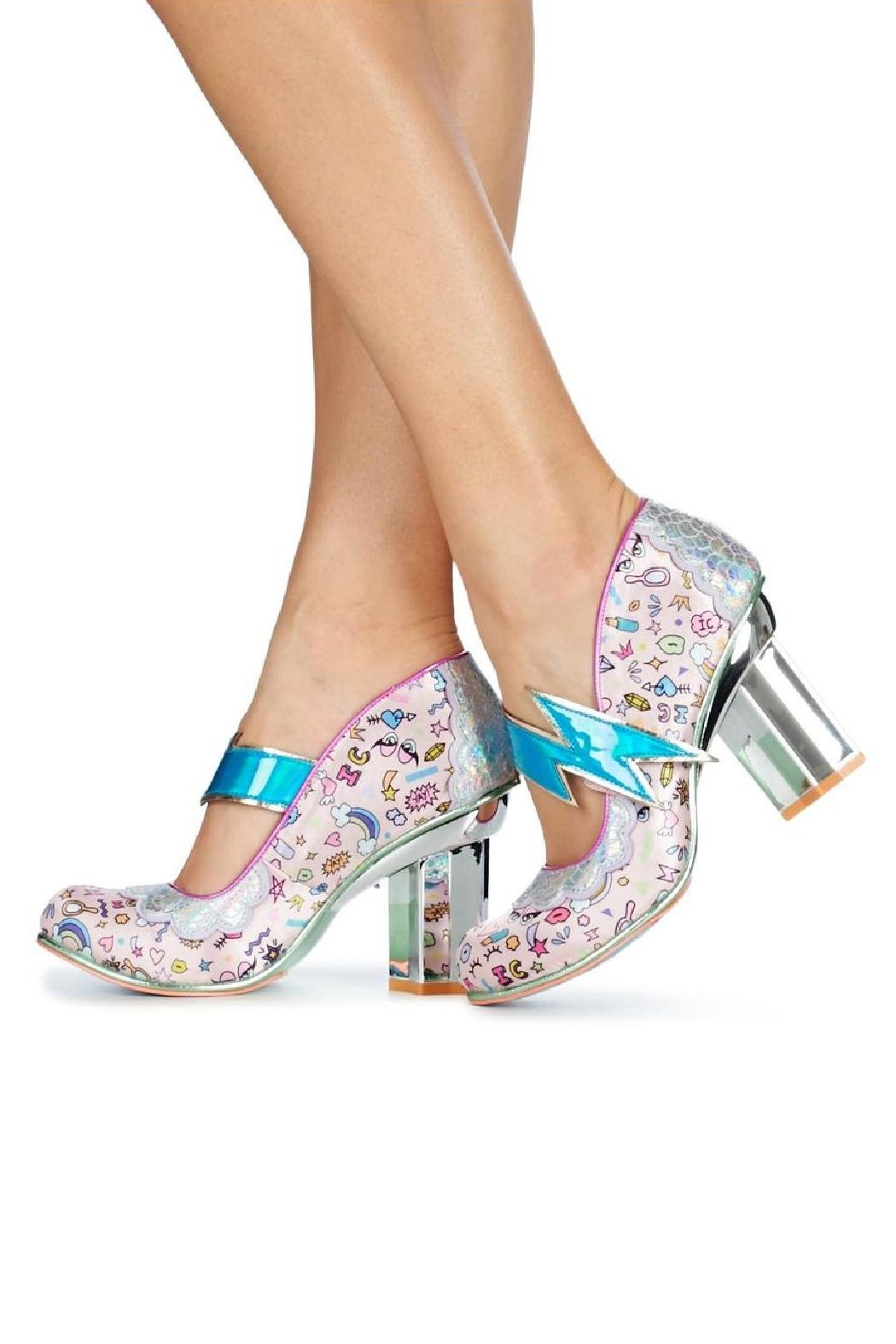 Irregular Choice Rainbow Thunder Heels - Front Full Image