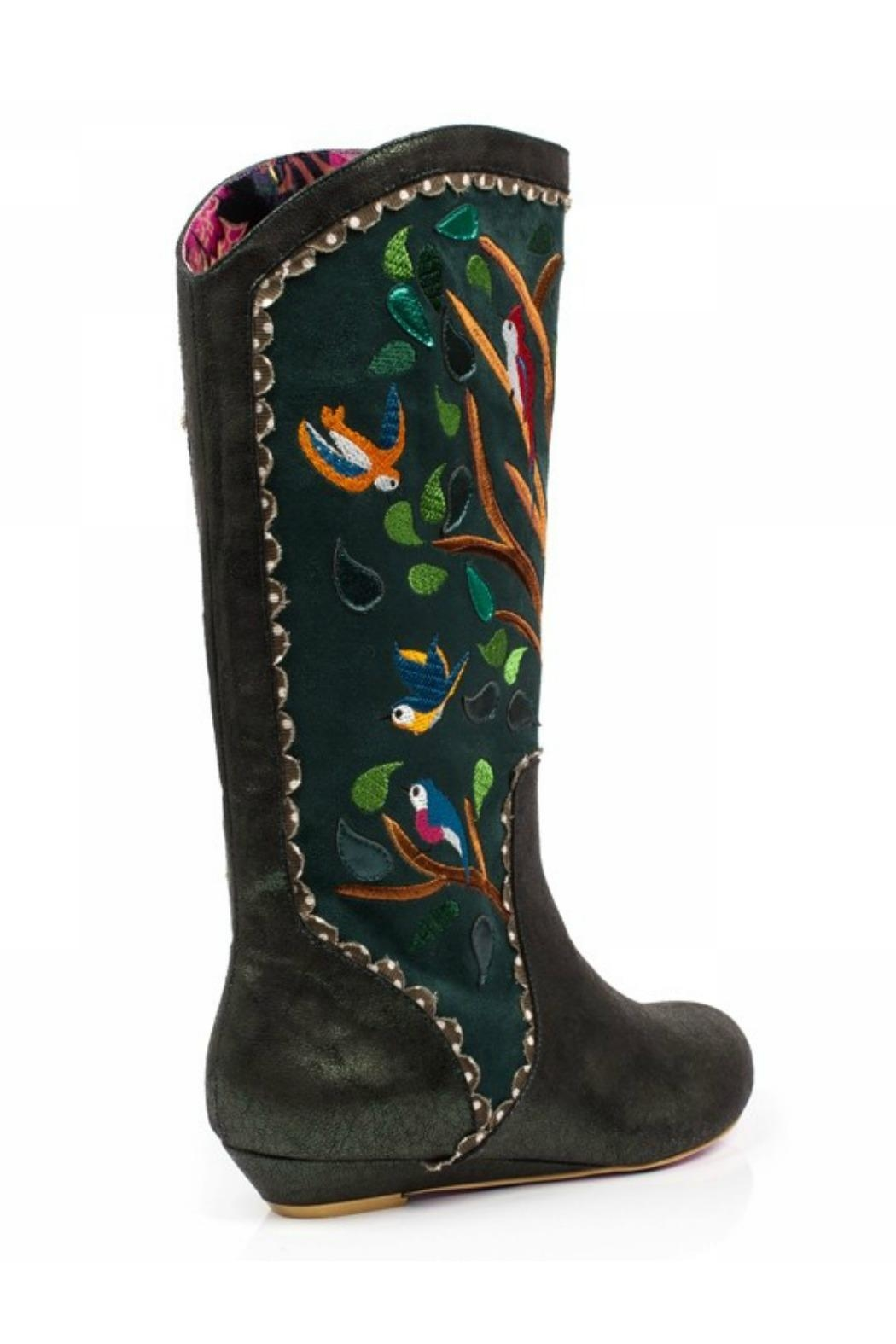 Irregular Choice Septima Embroidered Boots - Front Full Image