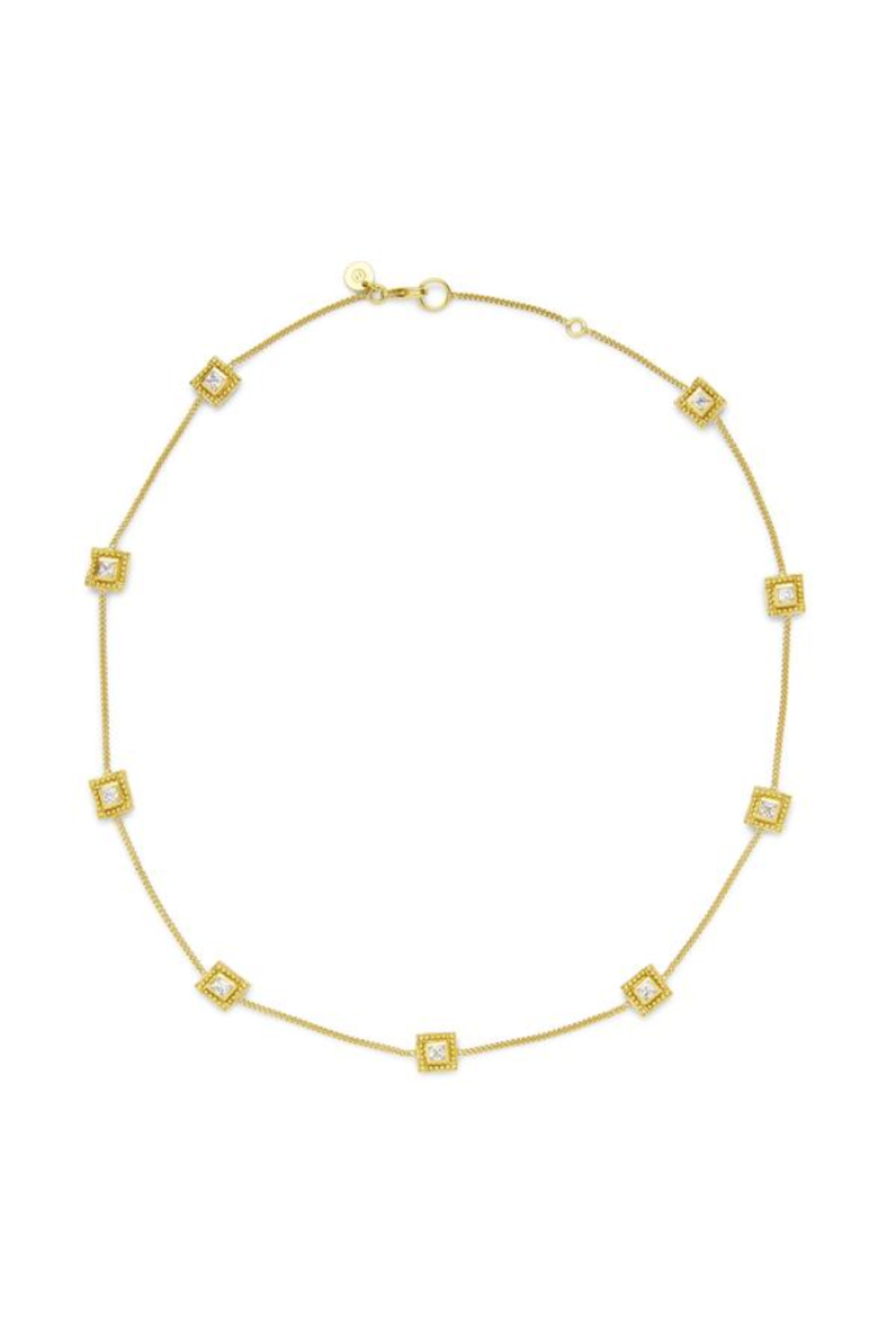 The Birds Nest ISABEL DELICATE STATION NECKLACE-GOLD ZIRCON - Main Image