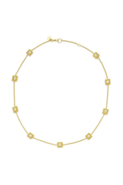 The Birds Nest ISABEL DELICATE STATION NECKLACE-GOLD ZIRCON - Front cropped