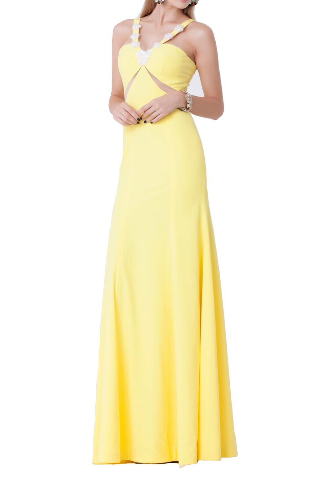 Isabel Garcia Maxi Yellow Dress - Front Cropped Image
