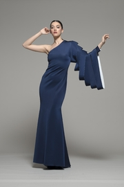 Isabel Sanchis One-Shoulder Gamewell Gown - Product Mini Image