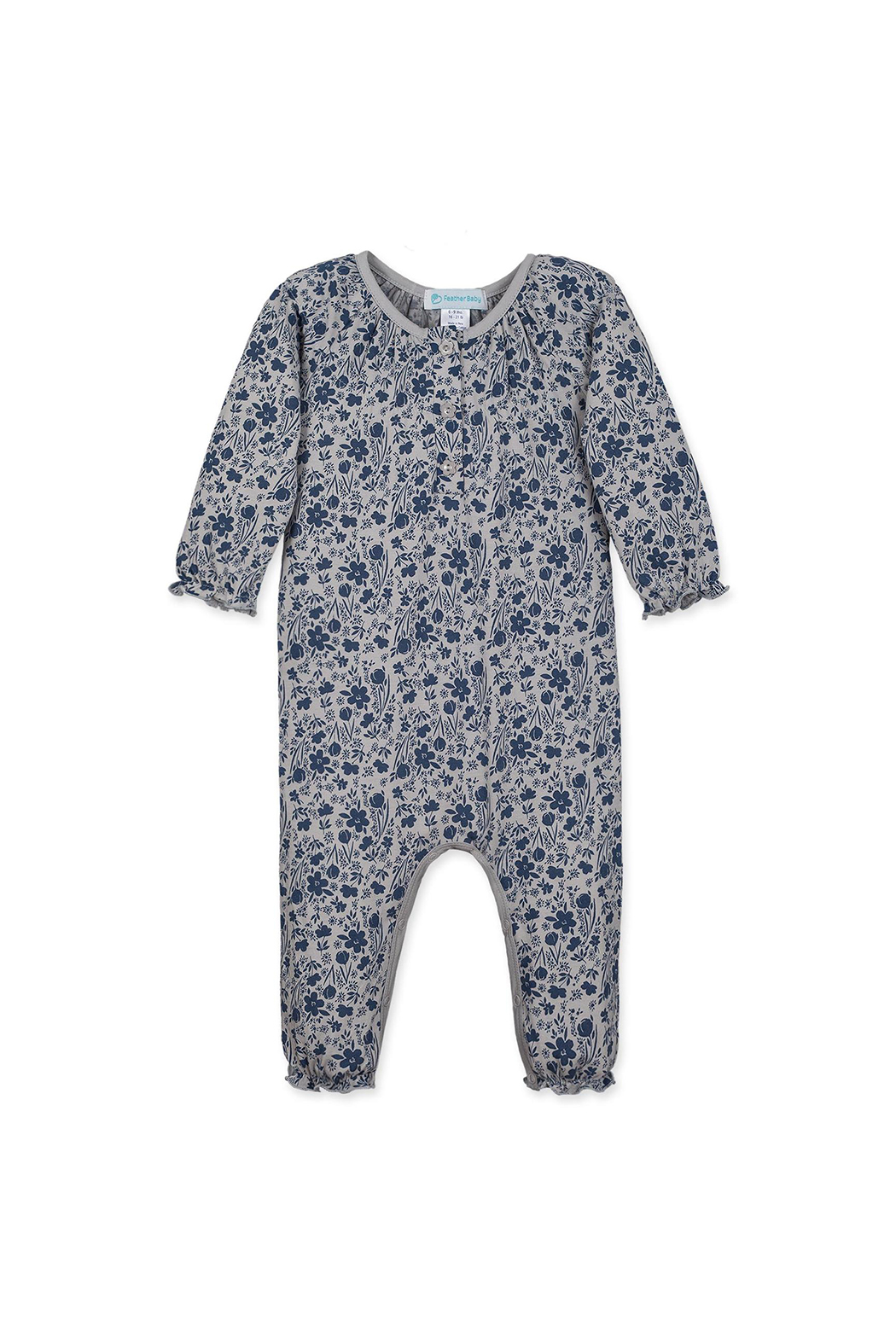 Feather Baby Isabella Ruched Floral Romper - Main Image