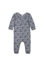 Feather Baby Isabella Ruched Floral Romper - Front cropped