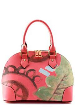 Isabelle Abstract Coral Handbag - Product List Image