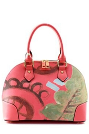Isabelle Abstract Coral Handbag - Front cropped