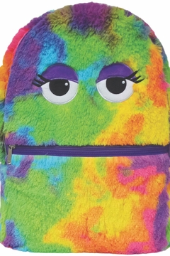 Shoptiques Product: Tiedye Furry Backpack