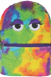 Iscream Tiedye Furry Backpack - Front cropped