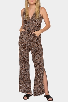 Tart Collections Isidore Leopard Print Jumpsuit - Product List Image