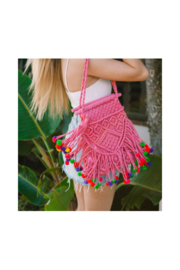 Virginia Wolf Isla Macrame Bag - Front cropped