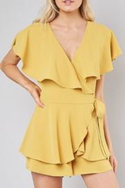 Do & Be Isla Open Back Romper - Front cropped