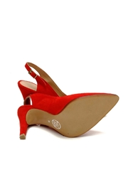 MIYE COLLAZZO Islamujeres Leather Stiletto - Side cropped