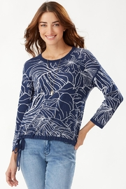 Tommy Bahama Island Bloom Jacquard Tie Sweater - Product Mini Image