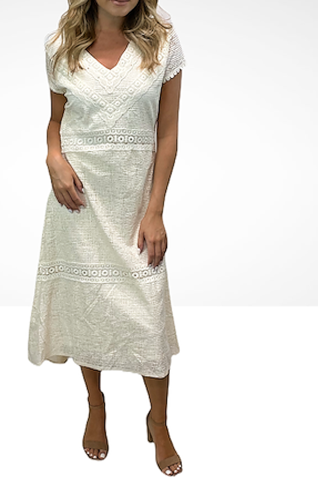 Reba Style Island Breeze natural dress - Main Image