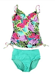 Island Escape Floral 2-Piece Tankini - Product Mini Image