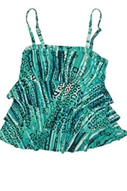 Island Escape Ruffle Tankini Top - Front cropped