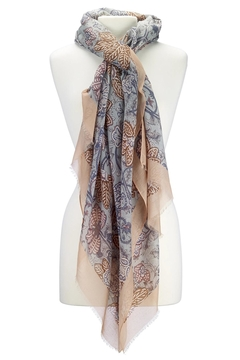 Island Imports Floral Border Scarf - Product List Image
