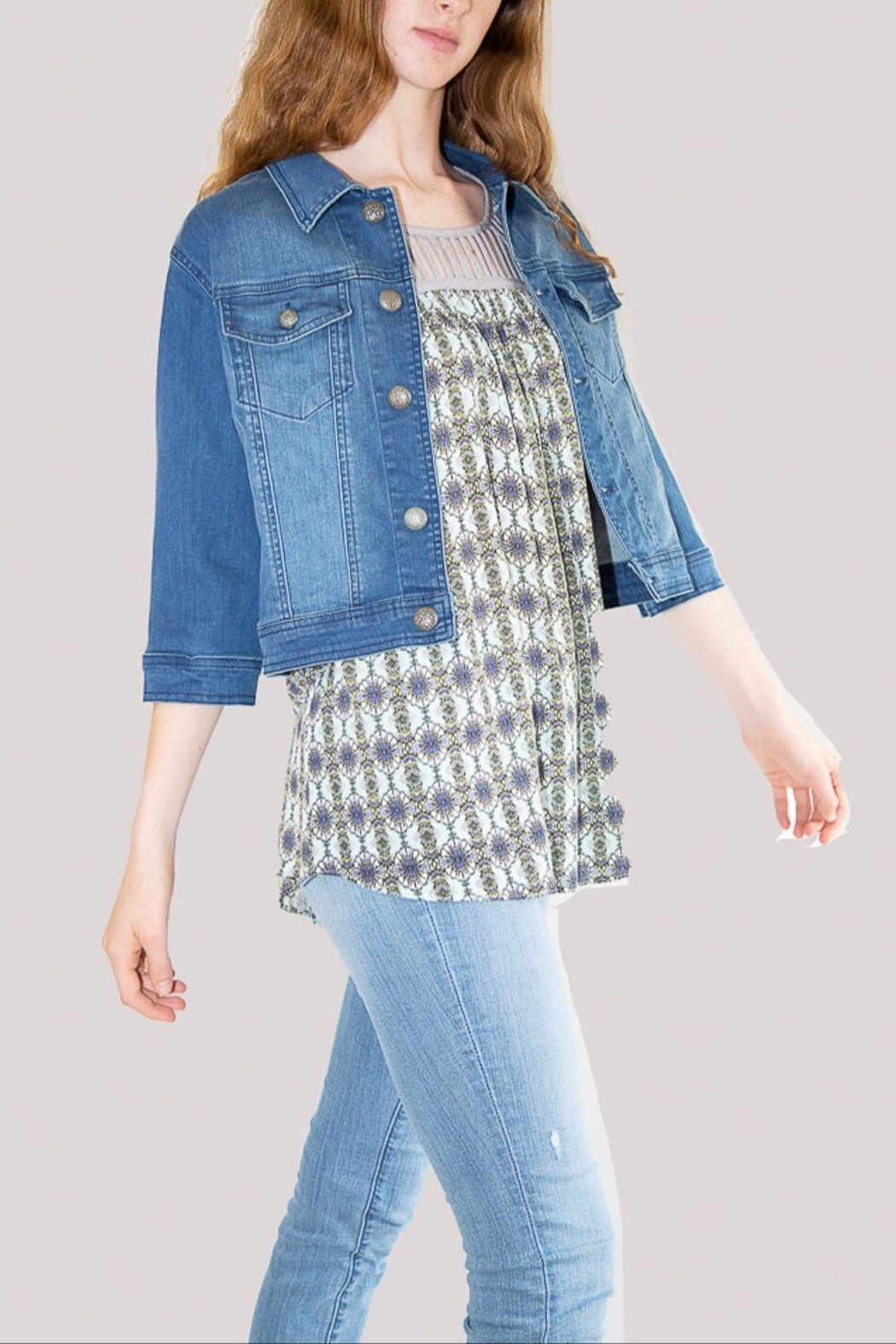Isle Cropped Jean Jacket - Front Full Image