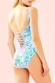 Lilly Pulitzer Isle Lattice One-Piece - Side cropped