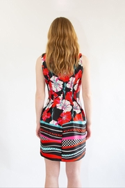 Isle Red Floral Dress - Back cropped
