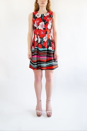 Isle Red Floral Dress - Side cropped
