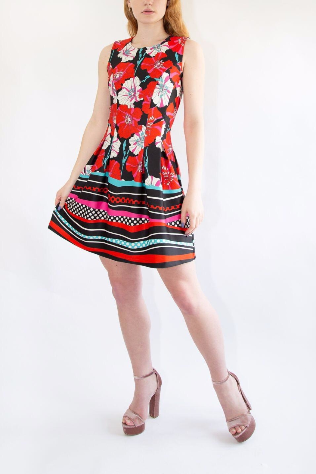 Isle Red Floral Dress - Main Image