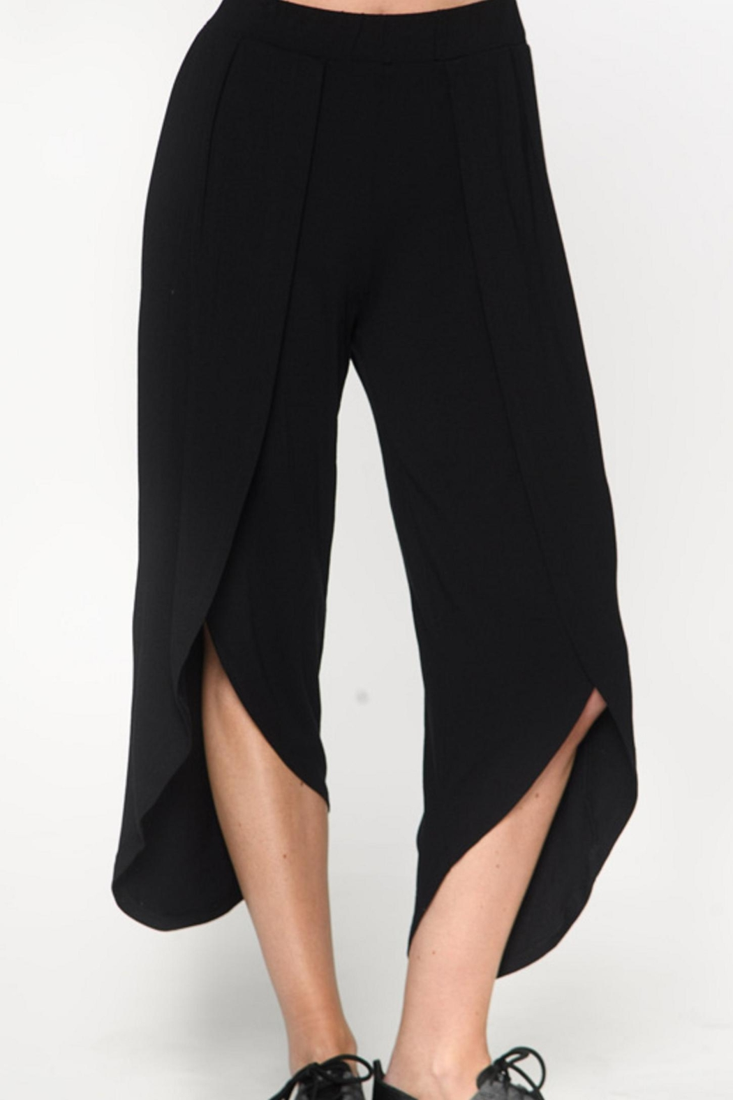 Isle Apparel Draped Crop Pant - Main Image