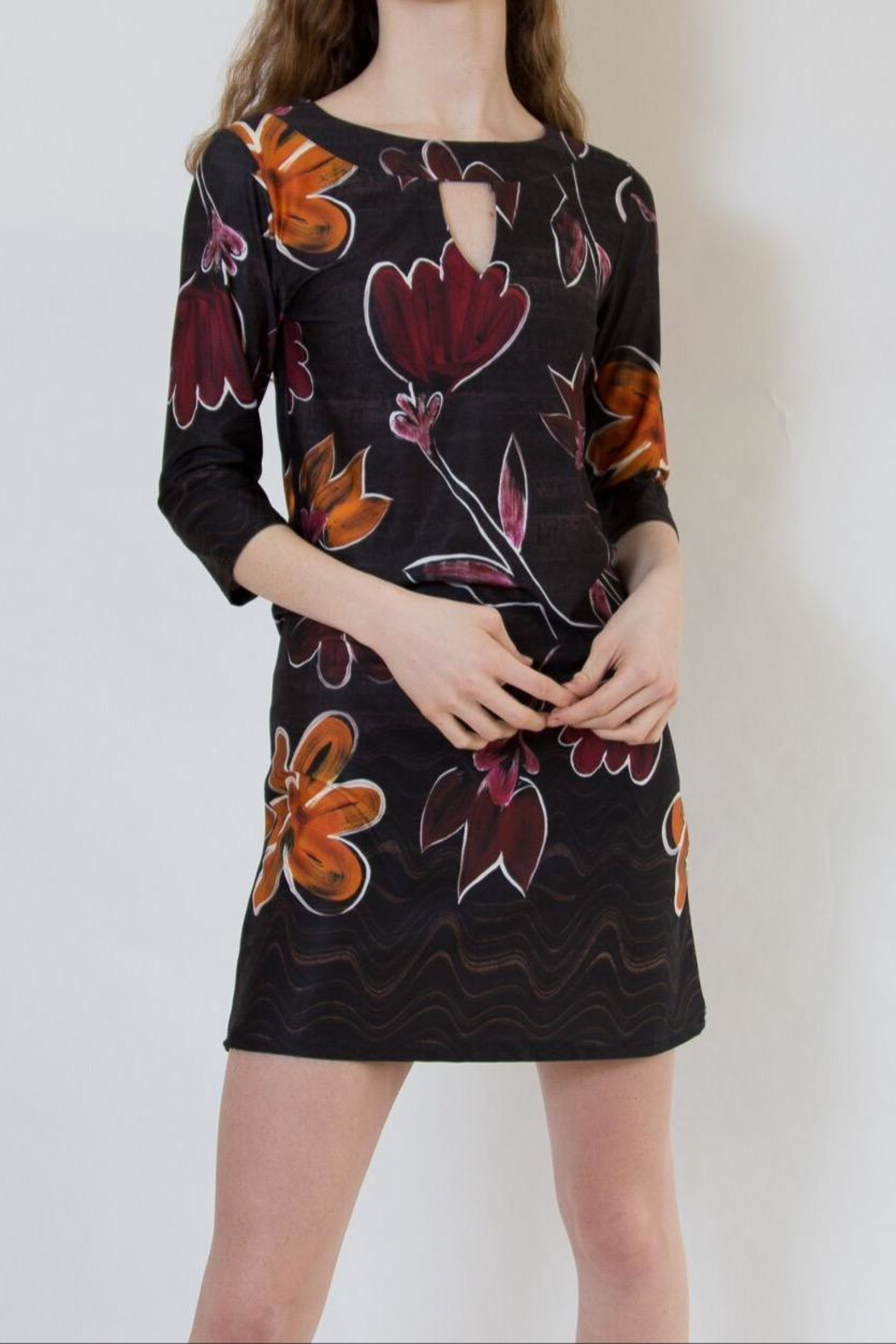 Isle Apparel Floral Shift Dress - Main Image