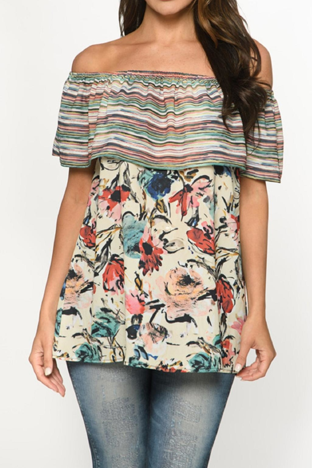 Isle Apparel Off Shoulder Top - Front Cropped Image