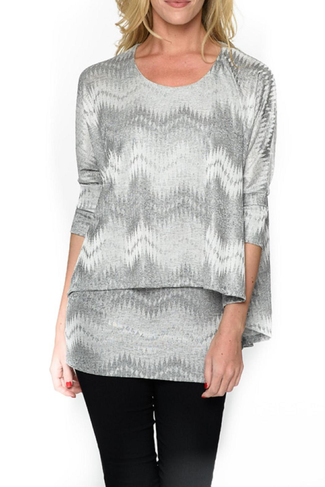 Isle Apparel Printed Tunic Top - Front Cropped Image