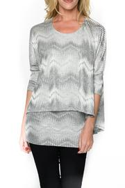 Isle Apparel Printed Tunic Top - Front cropped