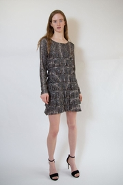 Isle Apparel Snakeprint Ruffle Dress - Product Mini Image