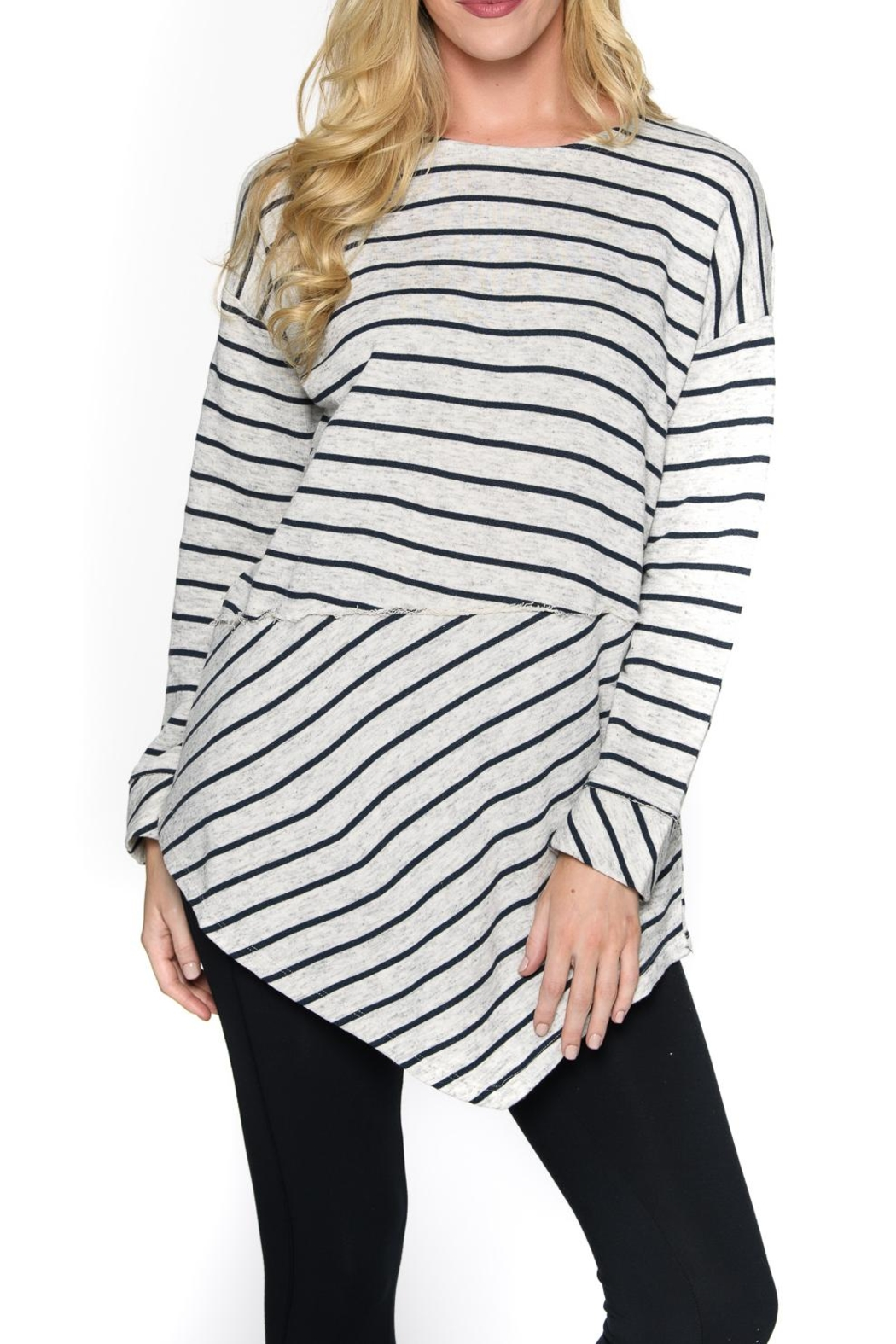 Isle Apparel Striped Tunic - Front Cropped Image