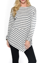 Isle Apparel Striped Tunic - Front cropped