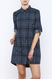 isley Plaid Denim Shirt Dress - Product Mini Image