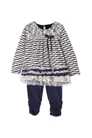 Isobella & Chloe Navy Stripe Lace Outfit - Product Mini Image