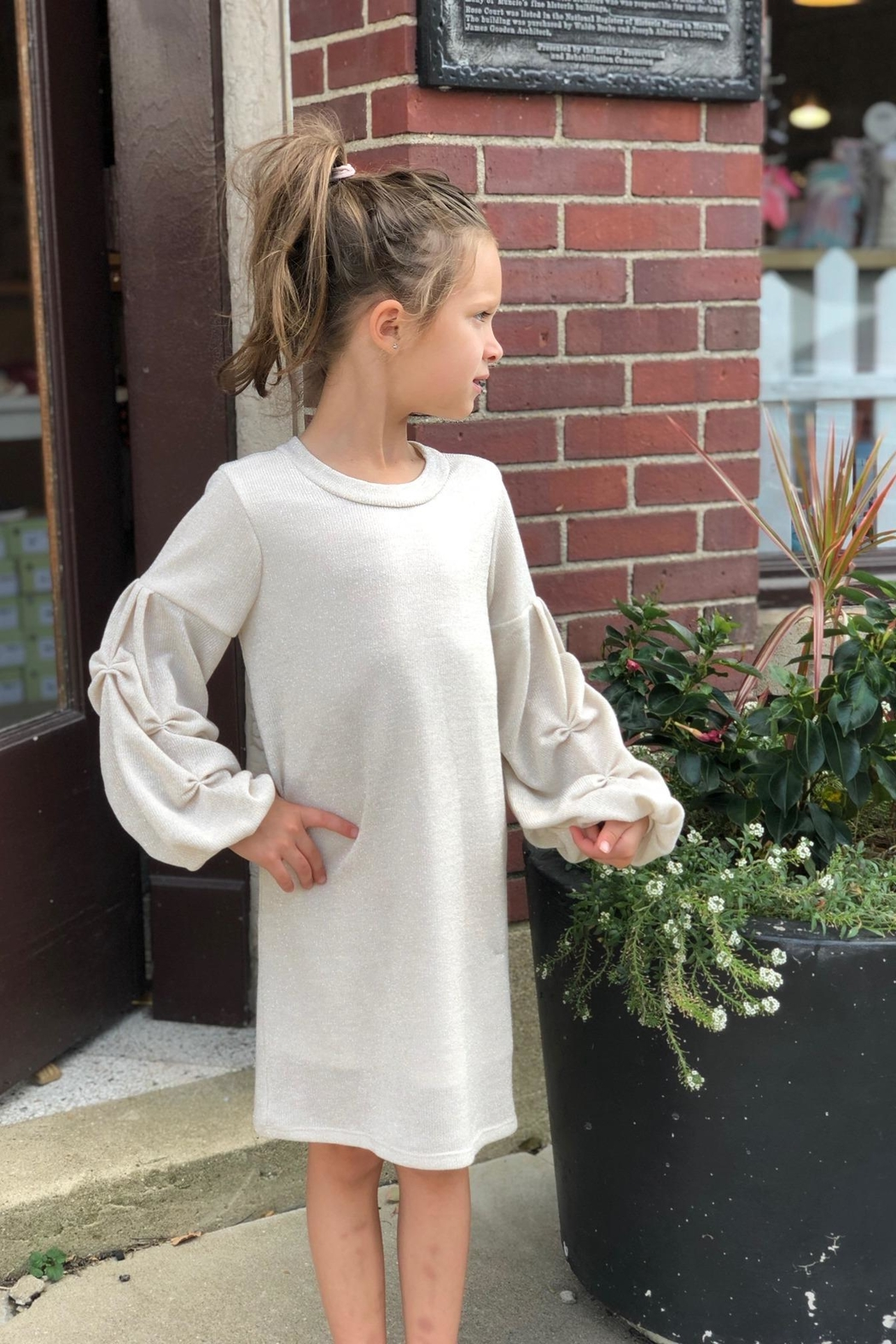 Isobella & Chloe Sparkly Sweater Dress - Main Image