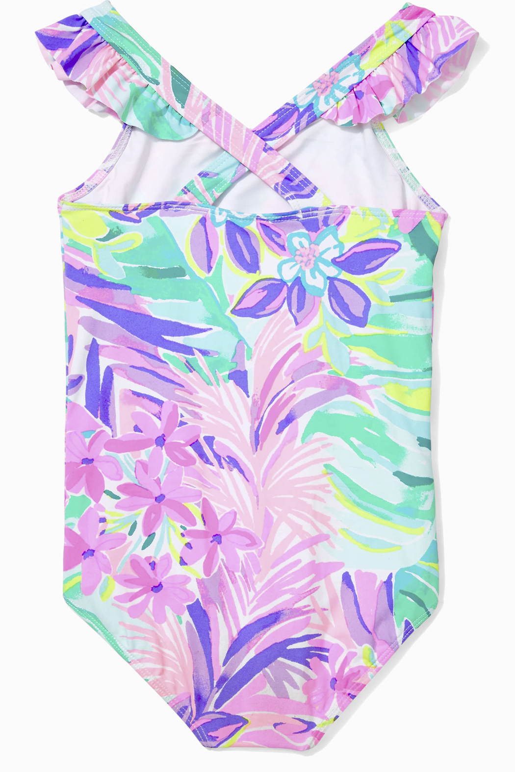 Lilly Pulitzer Girls Issie Swimsuit UPF 50+ - Front Full Image