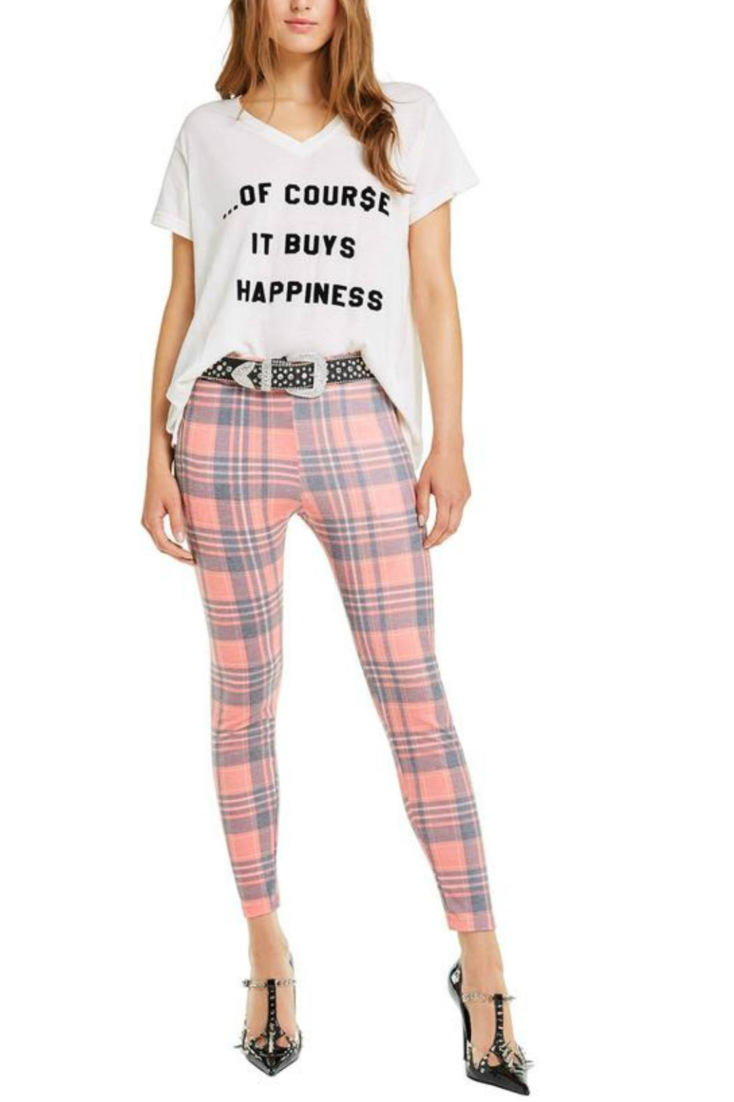 Wildfox It-Buys-Happiness V-Neck Tee - Front Full Image