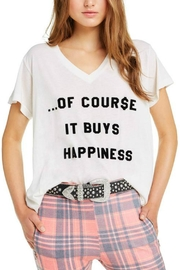 Wildfox It-Buys-Happiness V-Neck Tee - Front cropped